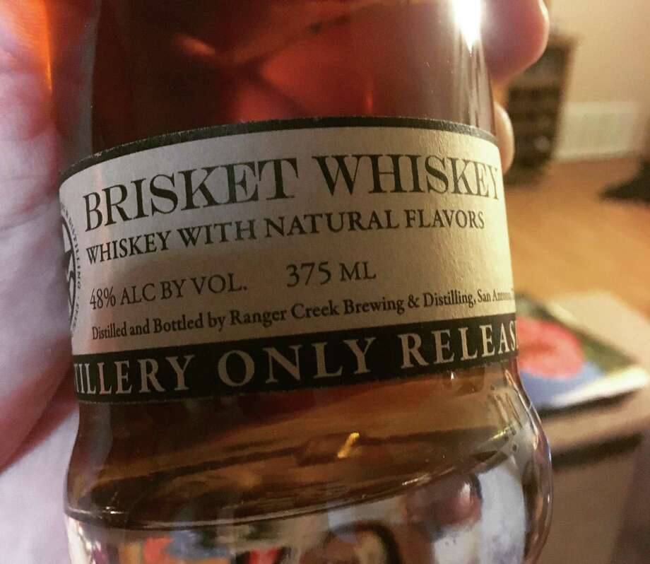 Ranger Creek Brewing & Distilling Brisket Whiskey was made as a special blend available to members of the recently launched Whiskey Club. It was made with actual dehydrated brisket, and the flavor comes off on the back end of a flavor. Photo: Chuck Blount /San Antonio Express-News