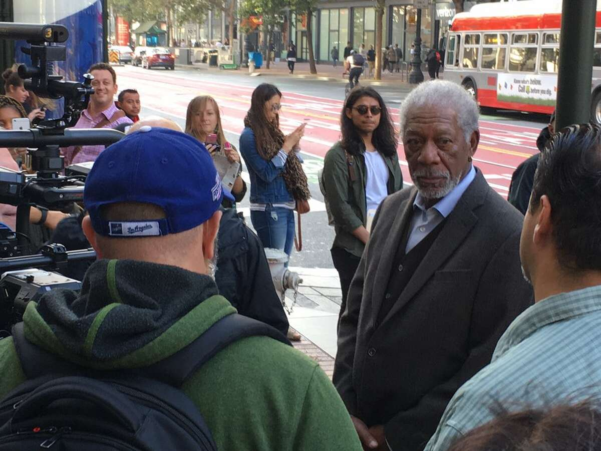 Morgan Freeman was spotted around San Francisco on Monday, August 28.