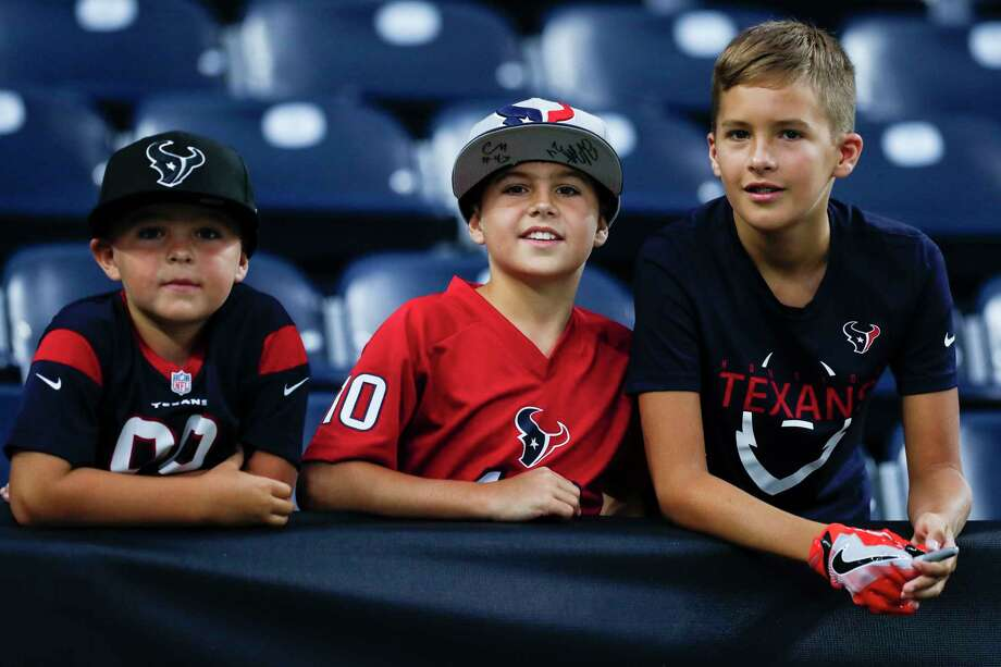 Houston Texans fans watch warm ups before NFL pre-season football game between the Texans and the New England Patriots at NRG Stadium on Saturday, Aug. 19, 2017, in Houston. ( Brett Coomer / Houston Chronicle ) Photo: Brett Coomer, Staff / © 2017 Houston Chronicle}