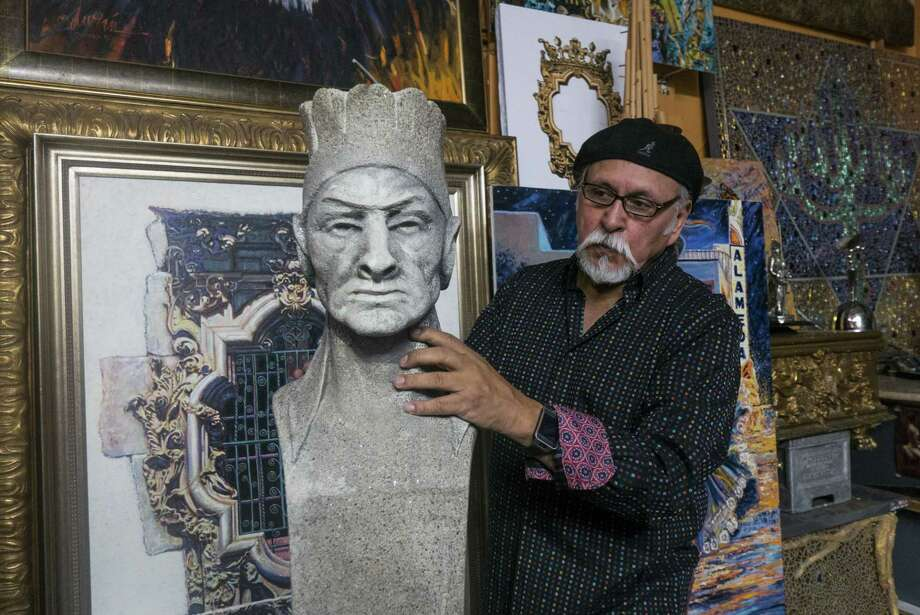 Duran hopes the statue can be returned to its original location downtown. Photo: Billy Calzada /San Antonio Express-News / San Antonio Express-News
