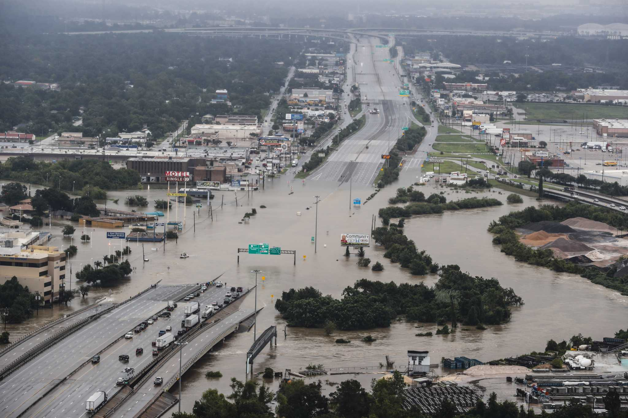 harvey u0026 39 s houston from above  aerial photos show extreme
