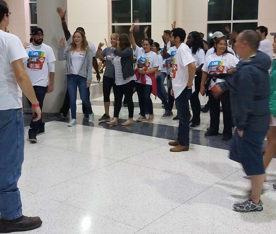 Volunteers prepare to help as Houston's NRG Center opens as a shelter about 11 p.m. Tuesday, Aug. 29, 2017. (Brooke A. Lewis / Houston Chronicle)