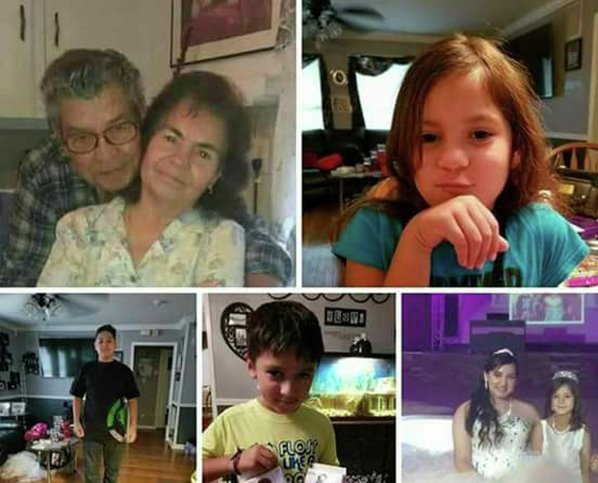The bodies of six members of the Saldivar family including grandparents Belia, 81, and Maneul Saldivar, 84, and grandchildren Daisey, 6, Devy, 16, Dominic, 15, and Xavier, 8, were discovered by the Harris County Sheriff's Office in the van they were last seen in on Wednesday, August 30, 2017.