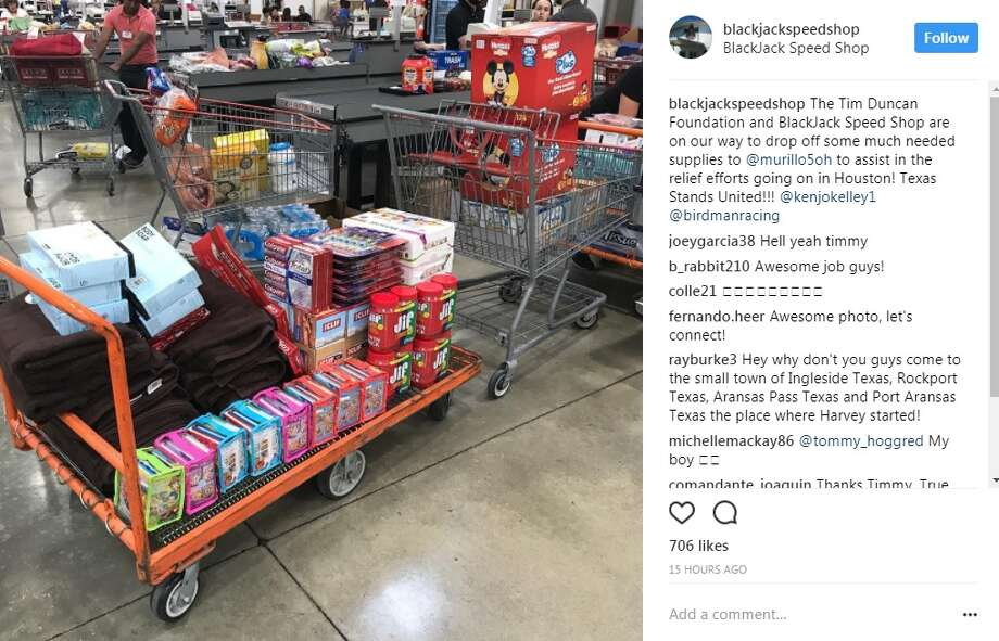 """blackjackspeedshop: """"The Tim Duncan Foundation and BlackJack Speed Shop are on our way to drop off some much needed supplies to @murillo5oh to assist in the relief efforts going on in Houston! Texas Stands United!!"""""""