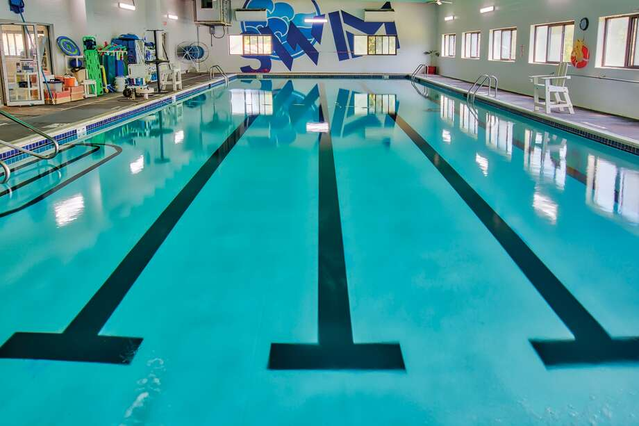 The pool and surrounding area at the Edwardsville YMCA's Esic Center has undergone a makeover. Photo: Scott Evers • YMCA