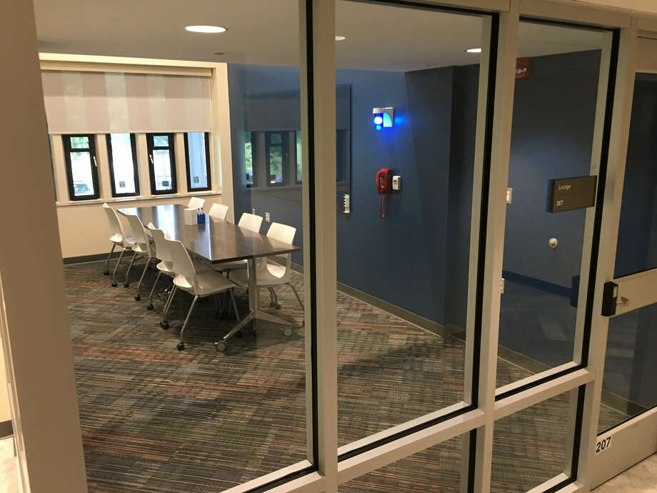 University at Albany students returning to Colonial Quad this fall will notice some changes at Herkimer Hall on the Uptown campus. A $10.3 million makeover of the residence hall was completed over the summer. Photo: State Dormitory Authority