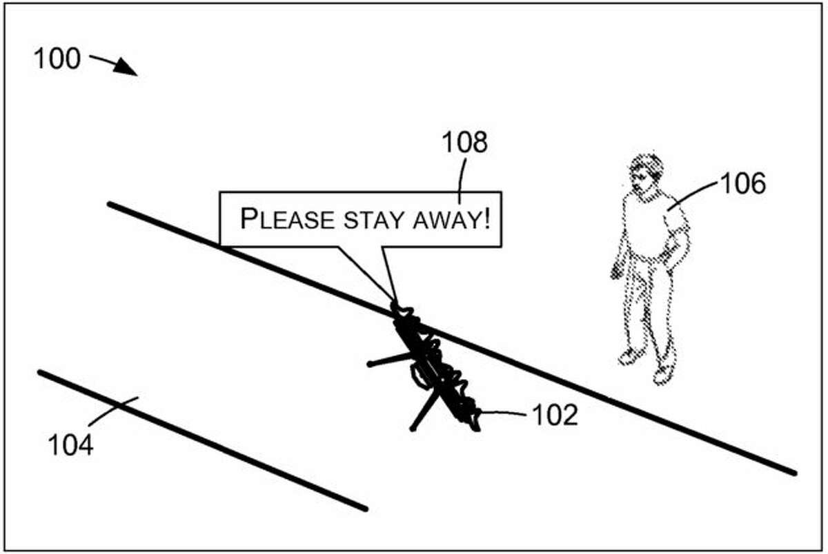 Amazon patents talking drones. (Images via USPTO)