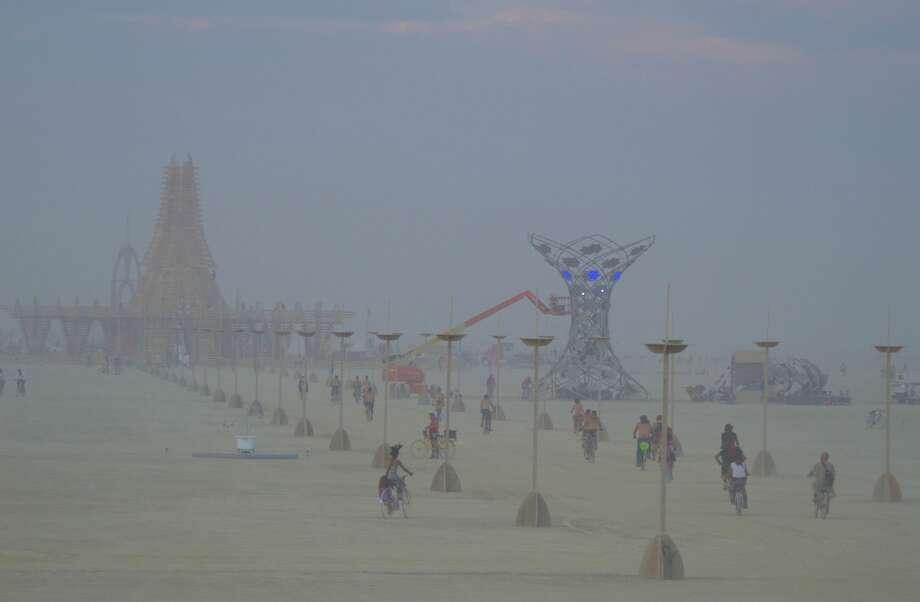 Some 70,000 people gathered in Nevada's Black Rock Desert for the Burning Man Festival 2017. Photo taken Aug. 27, 2017. Photo: Kyle Hendrix / Nevada BLM