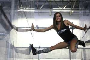 """San Antonio's Kacy Catanzaro, the 5-foot-tall woman who made history on """"American Ninja Warrior,"""" is excited about a new venture: the WWE."""