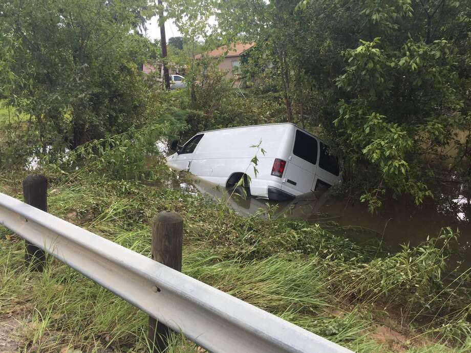Six family members died in floodwaters near Greens Bayou during Hurricane Harvey. Harris County sheriff's deputies recovered a van containing the bodies of the Saldivar family Aug. 30, 2017. Photo: Harris County Sheriffs Office Via Twitter