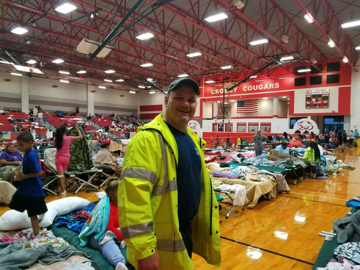 Christy Graves, director of operations for Harris County ESD No. 5, shared photos from the shelter based at Crosby Middle School.
