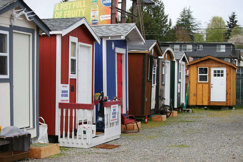 Tiny houses in Seattle. Photo: GENNA MARTIN, GENNA MARTIN, SEATTLEPI.COM