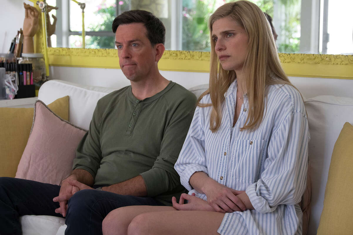 """Ed Helms (Noah) and Lake Bell (Alice) in """" I Do ... Until I Don't."""""""