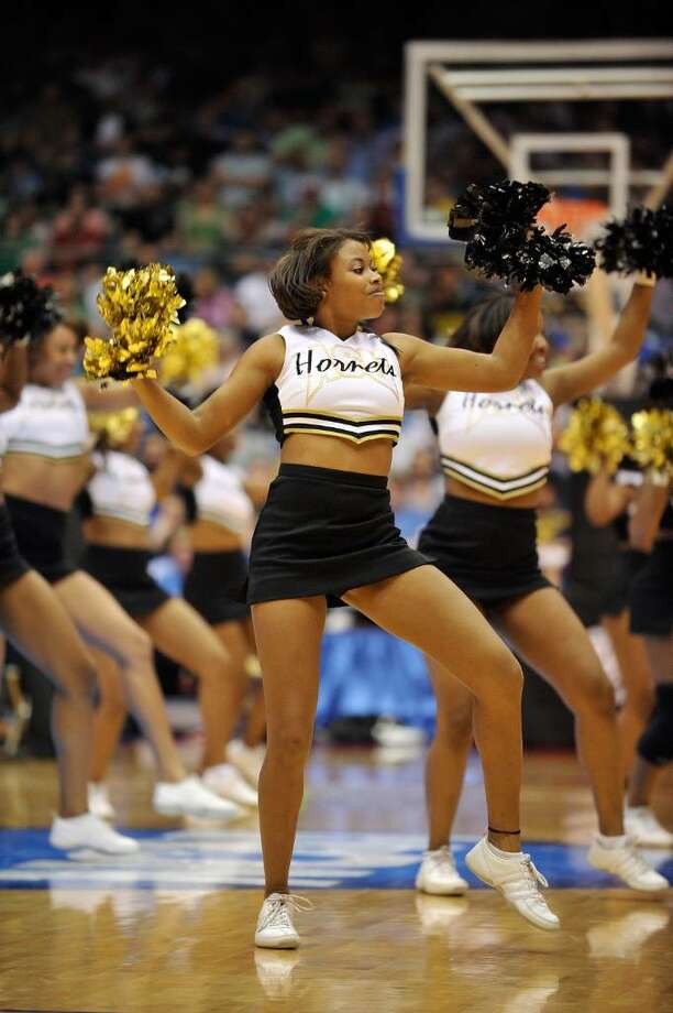 DAYTON, OH - MARCH 17: The Alabama State Hornets cheerleaders perform during the opening round of the Men's NCAA Tournament against the Morehead State Eagles on March 17, 2009 at the University of Dayton Arena in Dayton, Ohio.  (Photo by Jamie Sabau/Getty Images) Photo: Jamie Sabau, Getty Images / 2009 Getty Images