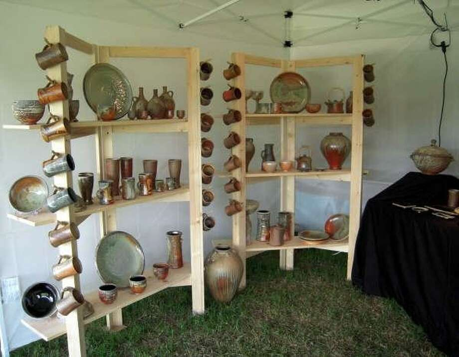 A vendor's booth from a past Texas State Arts & Crafts Fair. Afer a five-year hiatus, the fair will relocate to Ingram in 2018. Photo: Courtesy Photo / Submitted Photo
