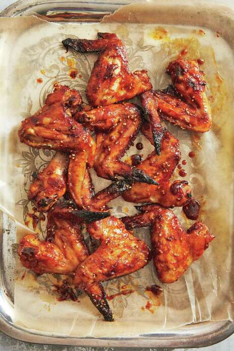 """Ginger-Sesame Chicken Wings from """"The Malaysian Kitchen"""" by Christina Arokiasamy. Photo: Penny De Los Santos /Houghton Mifflin Harcourt"""