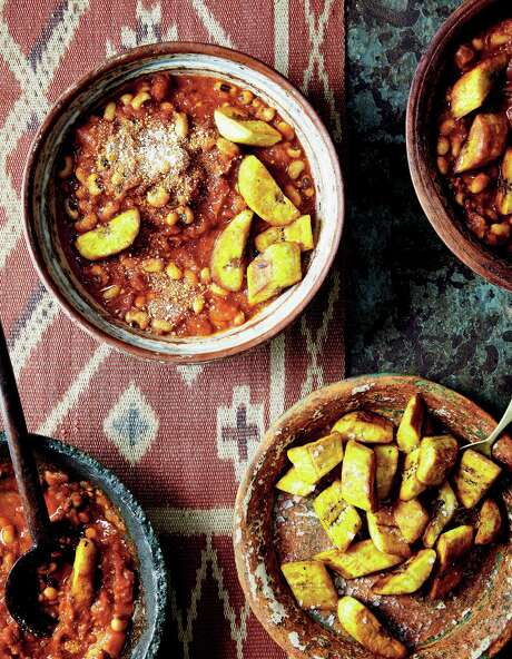 """Red Red Stew from """"Zoe's Ghana Kitchen: Traditional Ghanaian Recipes Remixed for the Modern Kitchen"""" by Zoe Adjonyoh. Photo: Nassima Rothacker /Mitchell Beazley"""
