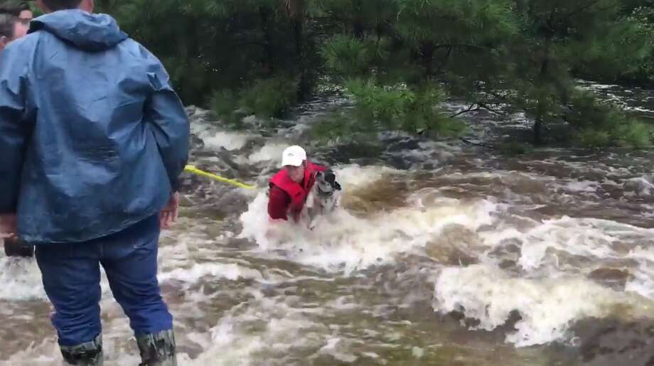 Photos: Pets of Hurricane HarveyA group of civilians in East Texas recently worked together to rescue a dog stranded in Harvey's flood waters.See how the pets of Houstonians and Texans managed during Hurricane Harvey.