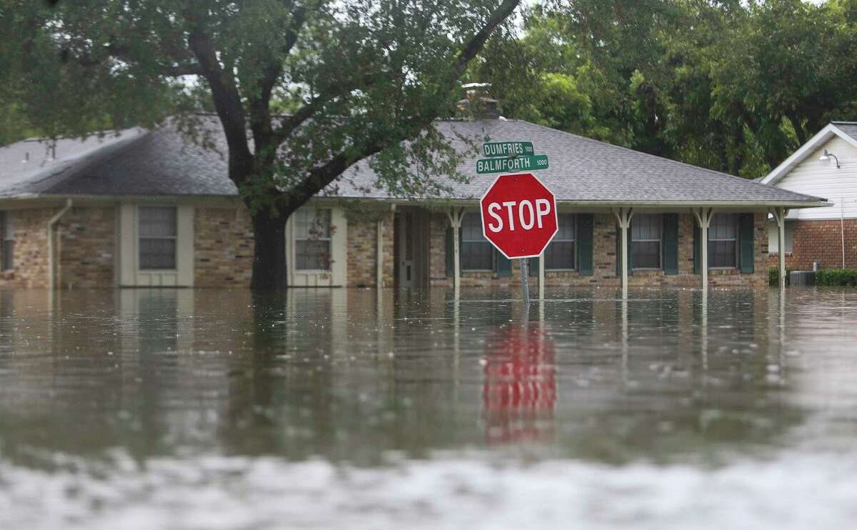 The streets of Meyerland, an older neighborhood near Brays Bayou.
