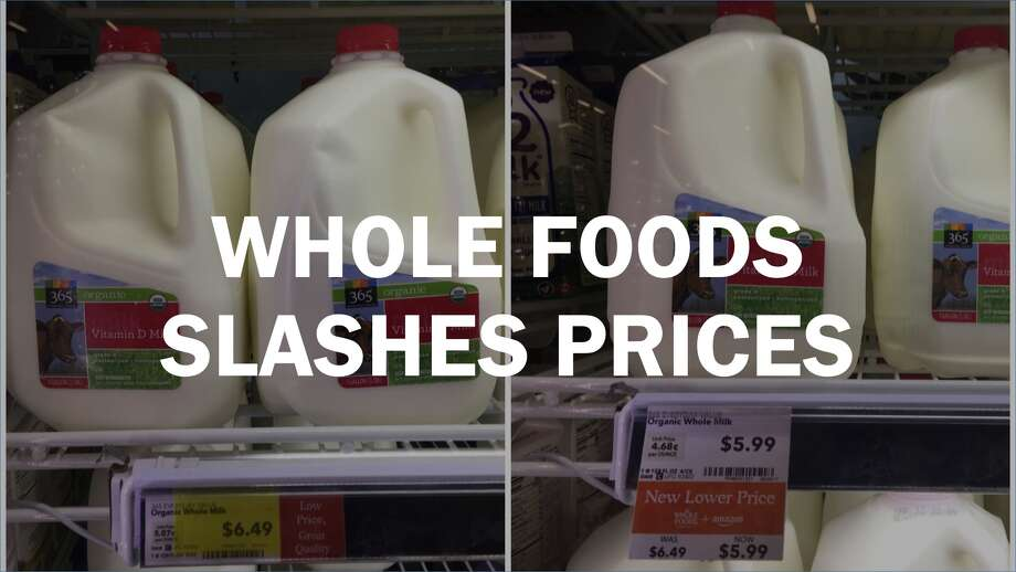 After it was bought by Amazon, Whole Foods slashed prices on many basic items. Click through the slideshow to see the before-and-after prices. Photo: Amy Graff