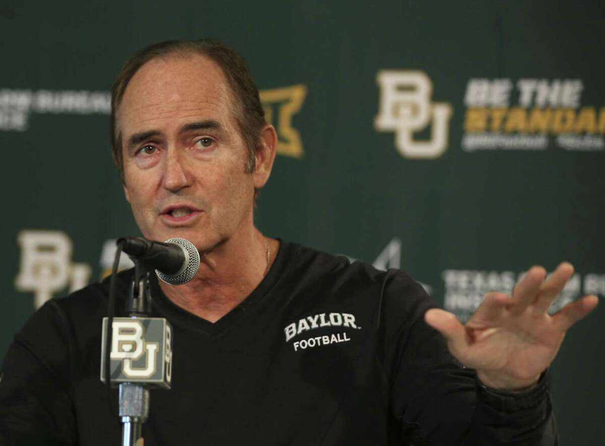 Baylor head football coach Art Briles talks with the media during a press conference in Waco on Aug. 25, 2014. Keep clicking for a current list of the highest paid college football coaches in the country.