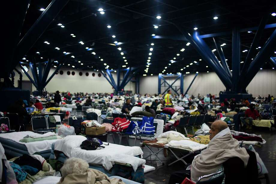 People seek shelter at the George R. Brown Convention Center in Houston. Photo: Photo For The Washington Post By John Taggart / For The Washington Post