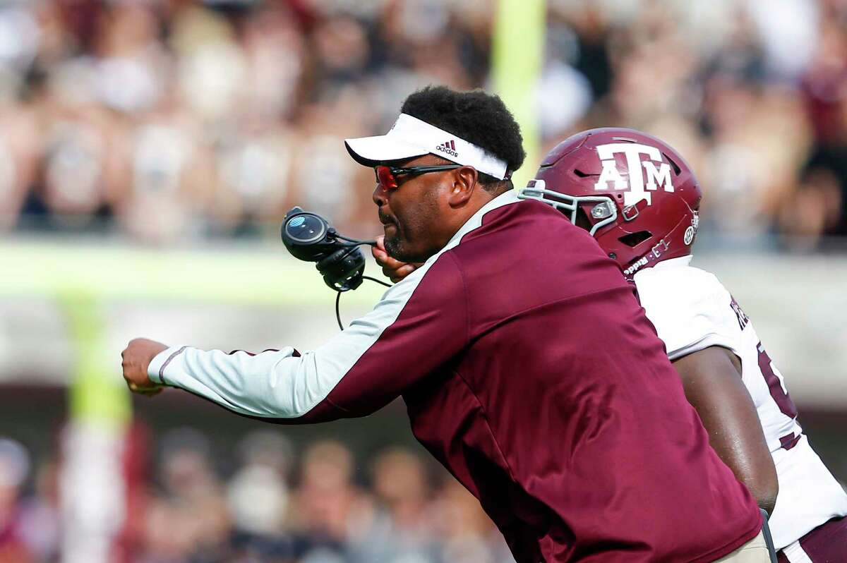 STARKVILLE, MS - NOVEMBER 5: Head coach Kevin Sumlin of the Texas A&M Aggies reacts to a call during the first half of an NCAA college football game against the Mississippi State Bulldogs at Davis Wade Stadium on November 5, 2016 in Starkville, Mississippi. (Photo by Butch Dill/Getty Images)