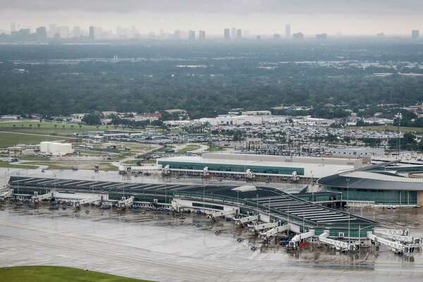 An abandoned Hobby Airport, closed by Tropical Storm Harvey, is shown on Tuesday, Aug. 29, 2017, in Houston. ( Brett Coomer / Houston Chronicle )