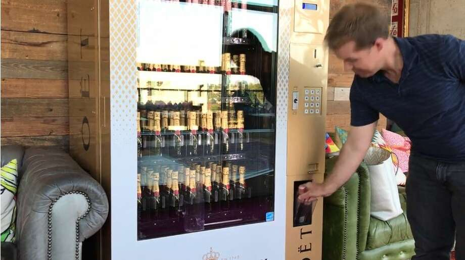 Paramour lays claim to the first of its kind champagne vending machine in Texas. Photo: Screen Grabs