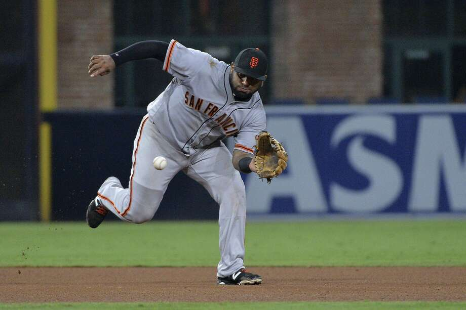 Pablo Sandoval, who has played a creditable third base since his return, will move to first base Wednesday for the first time in more than five years. Photo: Orlando Ramirez, Associated Press
