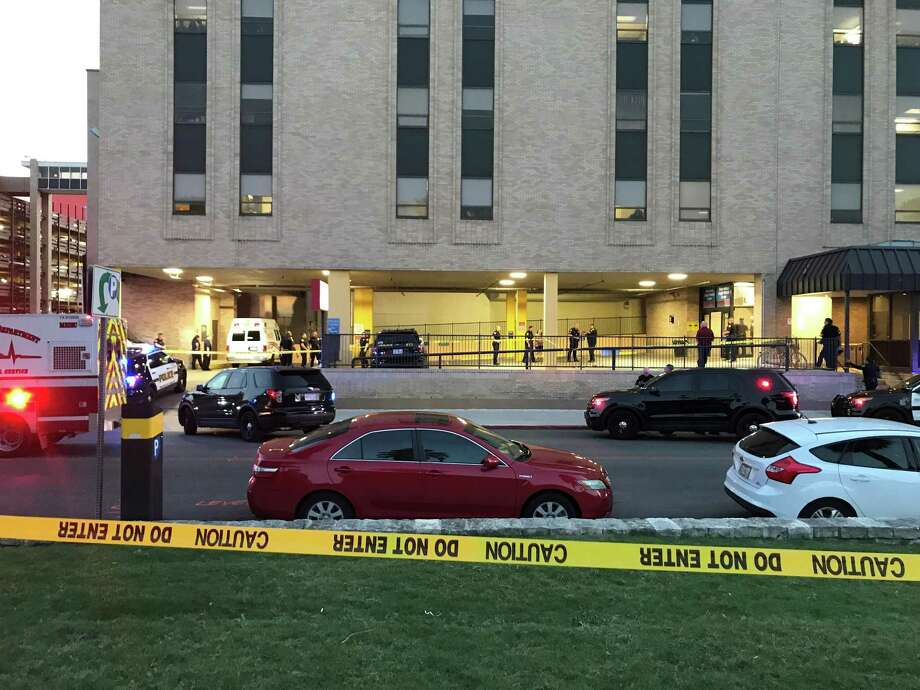 San Antonio police are investigating a report of an officer-involved shooting at Baptist Memorial Hospital on Tuesday evening. Photo: Jacob Beltran /San Antonio Express-News
