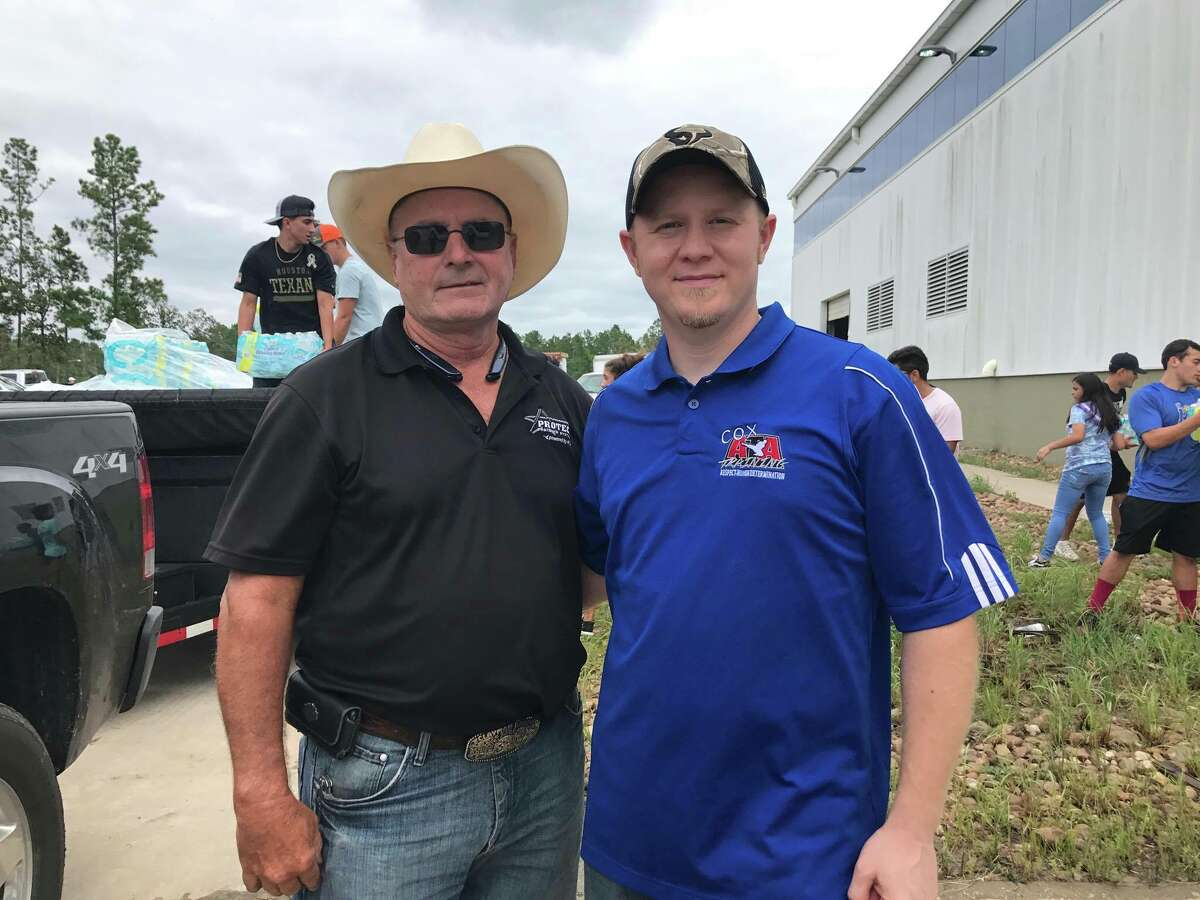 Conroe and Magnolia based Cox ATA Martial Arts School Instructor Kaleb Cox was blown away when Mike Niblock of the Austin area-based ATA Black Belt Academy responded to his call and rolled up to Conroe with two trucks, two trailers, and 15,000 pounds of water for those hard-hit by Harvey.