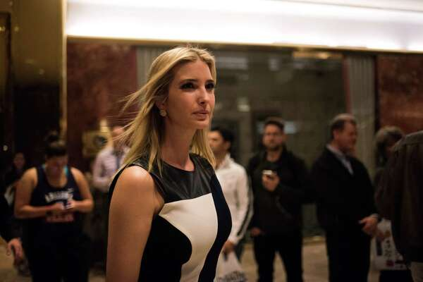 FILE é?' Ivanka Trump, the president-electé?•s elder daughter, leaves Trump Tower in Manhattan, Nov. 17, 2016. Bidding for a chance to have coffee with Ivanka has surpassed $60,000, though Eric Trump responded to questions about the auction by saying he was considering shutting it down. (Hilary Swift/The New York Times)