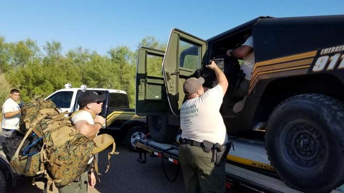 Capt. Garcia and six other deputies departed to the Houston area after the Harris County Sheriff's Office requested assistance. Their specialty includes livestock and tactical training.