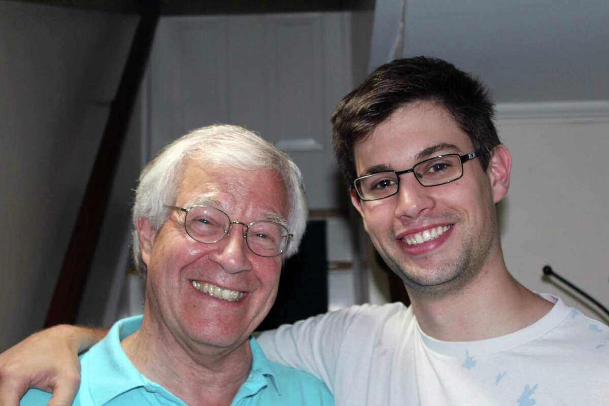 Warner and Nick Depuy in their New Canaan home on Aug. 28.