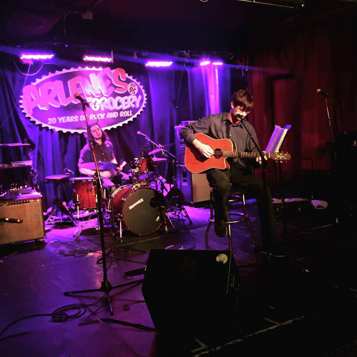 Nick Depuy performs at Arlene's Grocery in New York City.