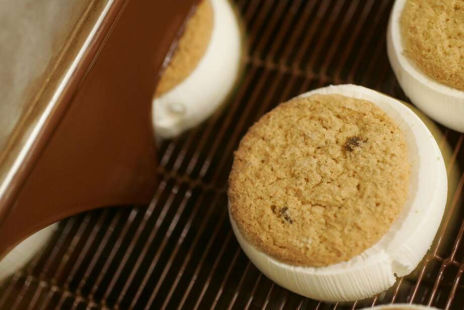 San Francisco's famous It's-It ice cream sandwich gets a chocolate coating. Photo: Eric Luse