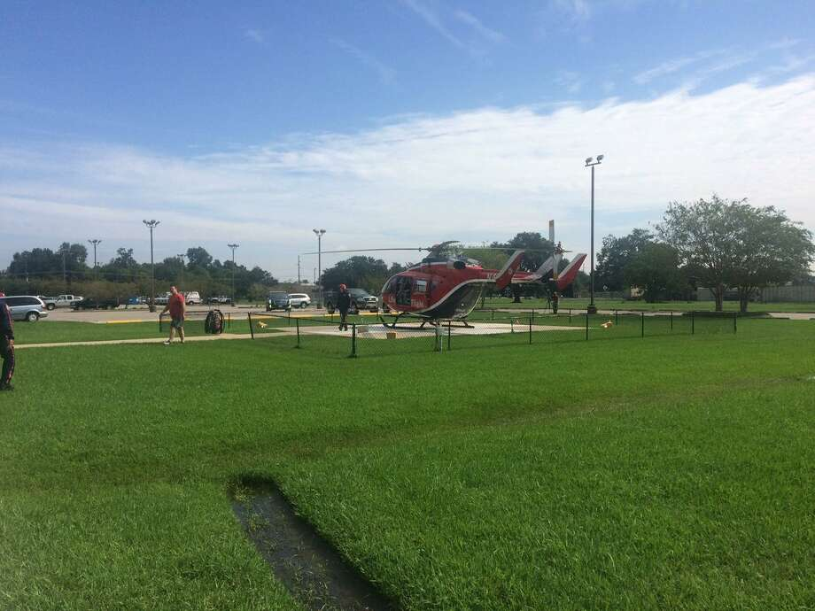 Baptist Hospital is evacuating patients with helicopters.Photo: Danny Shapiro Photo: BE