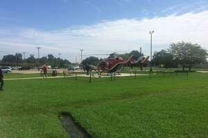 Baptist Hospital is evacuating patients with helicopters.    Photo: Danny Shapiro