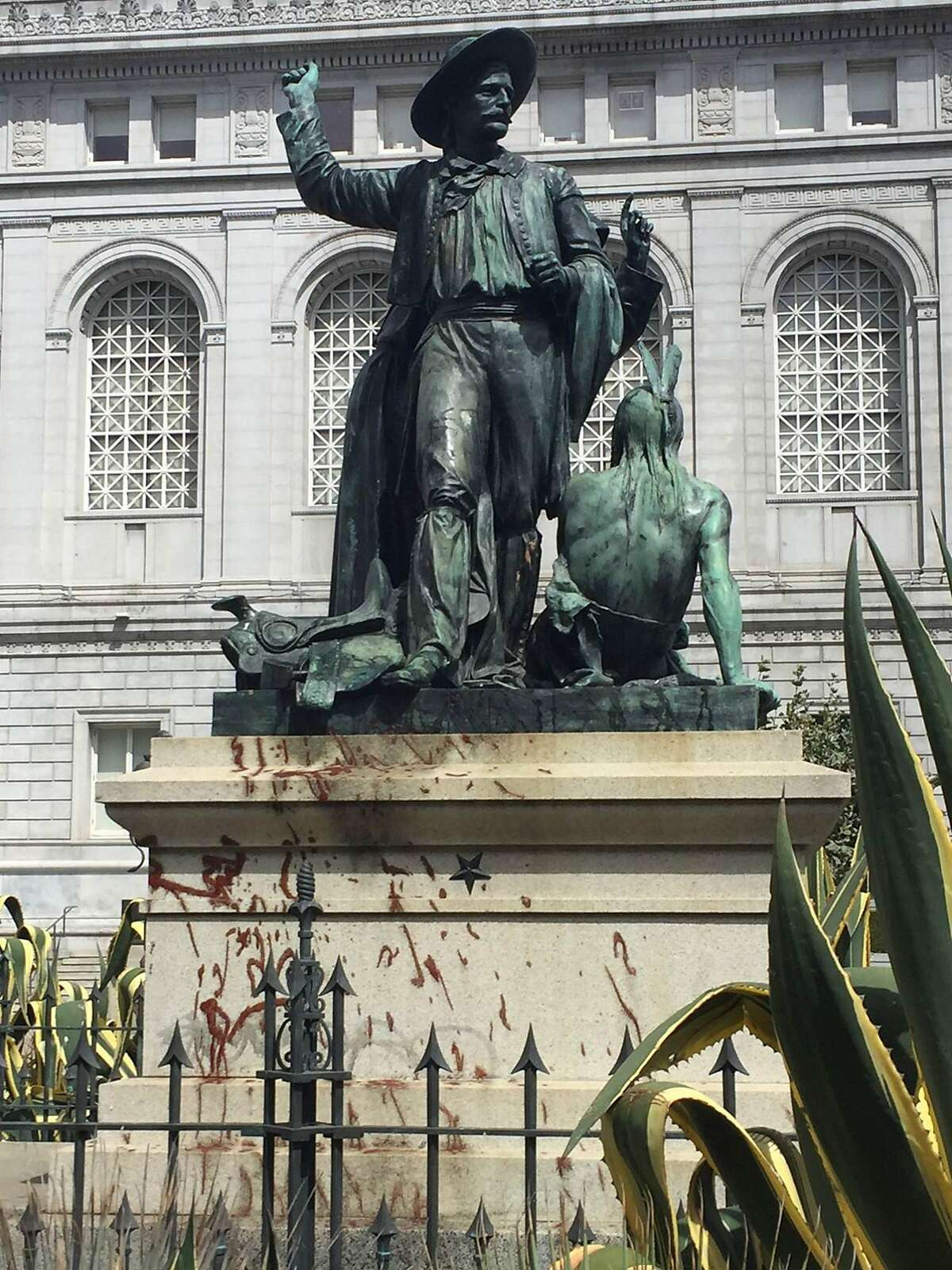 The Pioneer Monument in San Francisco's