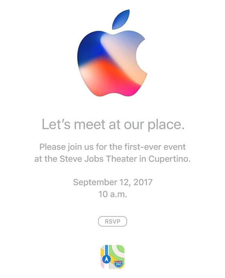 A screen shot of the Apple invitation. Photo: Screen Shot