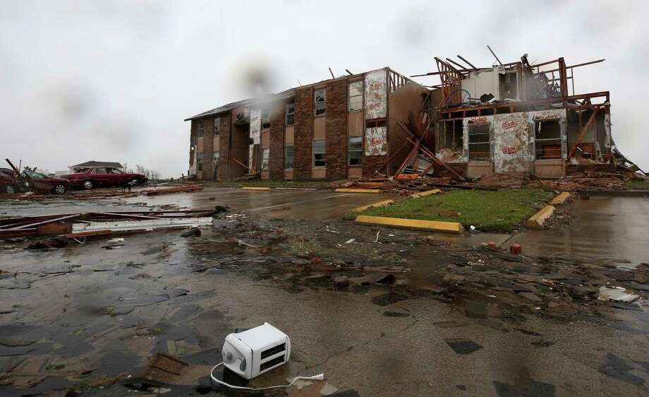 Salt Grass Landing apartments after Hurricane Harvey on Saturday, Aug. 26, 2017, in Rockport, Texas. Photo: Godofredo A. Vasquez, Staff / Godofredo A. Vasquez