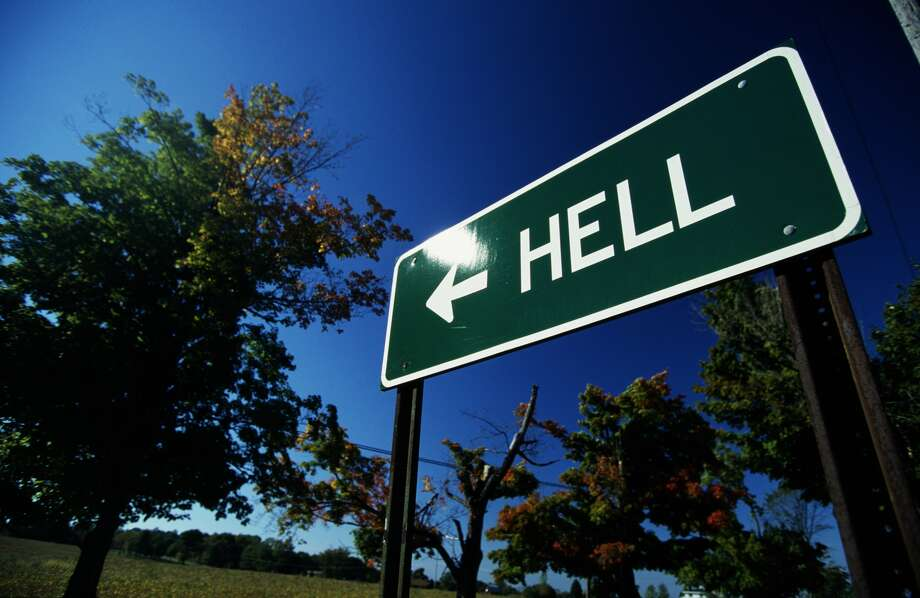 A sign near Hell, Michigan. Photo: Andy Sacks / Getty Images