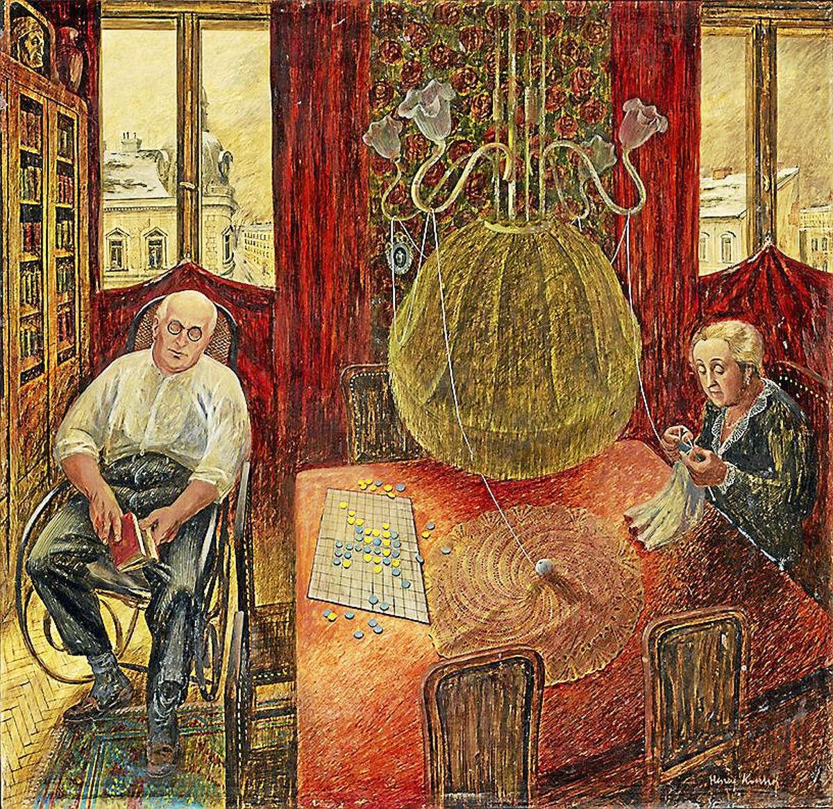 "Henry Koerner's ""My Parents I,"" 1944. Oil on Masonite. Private collection. Courtesy estate of Joan Koerner."