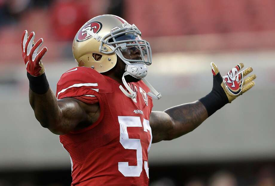 San Francisco 49ers linebacker NaVorro Bowman (53) warms up before an NFL football game against the Los Angeles Rams in Santa Clara, Calif., Monday, Sept. 12, 2016. (AP Photo/Marcio Jose Sanchez) Photo: Marcio Jose Sanchez, AP