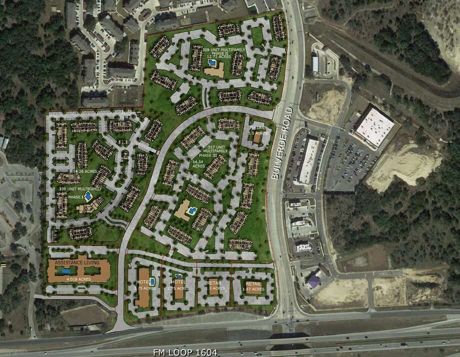 Austin multifamily developer Oden Hughes has purchased 57 acres of land on the North Side from H-E-B where it plans to build about 1,000 luxury apartments over a long-term span. Photo: Courtesy Of Oden Hughes