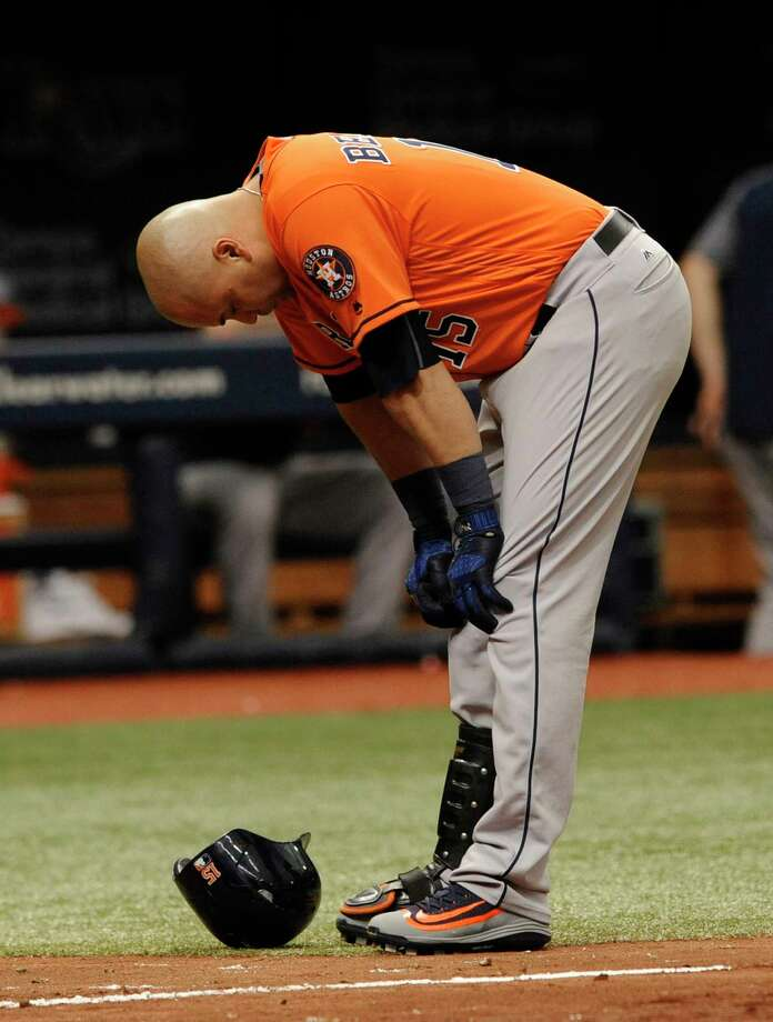 Astros designated hitter Carlos Beltran rested on Sunday because of upper back and neck soreness. Photo: Steve Nesius, Associated Press / FR69810 AP
