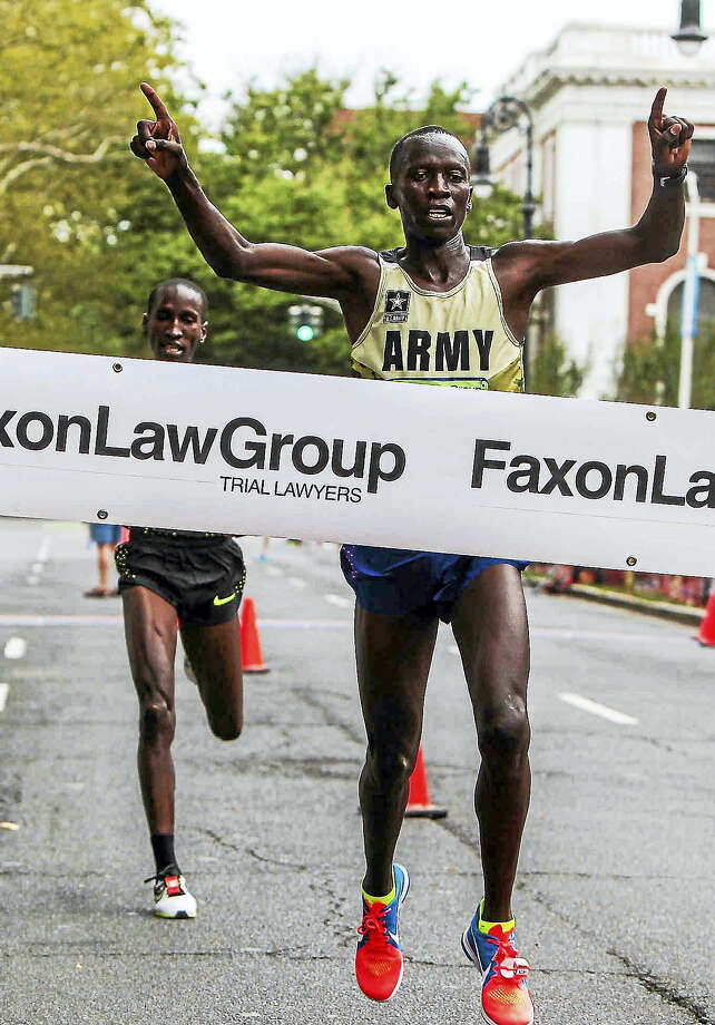 Leonard Korir is back to defend his title at the New Haven Road Race this year. Photo: John Vanacore/Hearst Connecticut Media File Photo / John Vanacore/Register