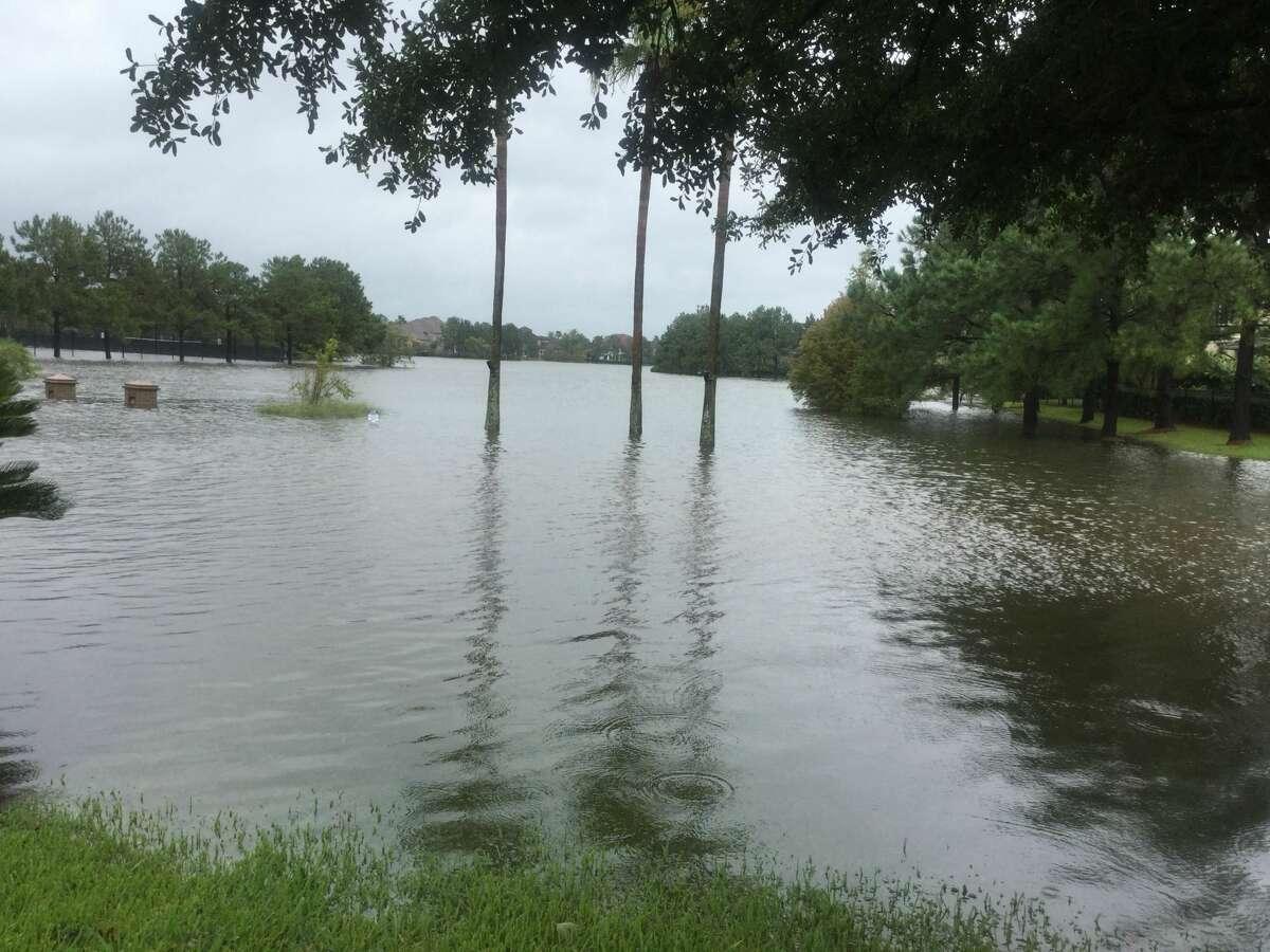 Flooding from Tropical Storm Harvey at Eldridge North.