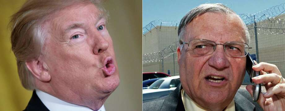 In pardoning former Sheriff Joe Arpaio, President Donald Trump has put a stamp of approval on profiling a minority — approved bigotry. Photo: MANDEL NGAN /AFP /Getty Images / AFP or licensors
